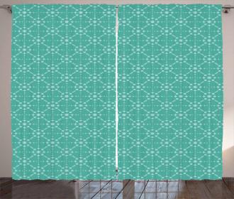 Retro Star Pattern Curtain