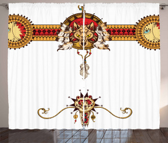 Tribal Inspired Imagery Curtain