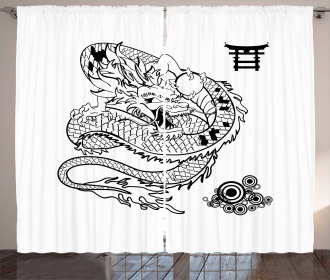 Tattoo Art Reptile Curtain