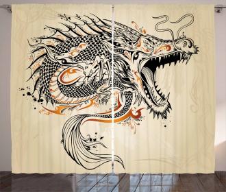 Doodle Creature Curtain