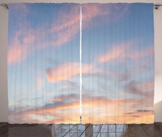 Clouds Sunset Inspiring Curtain