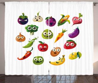 Carrot Banana Pepper Curtain