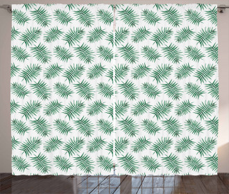 Watercolor Tropical Palm Curtain