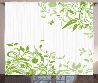 Spring Time Butterfly Curtain