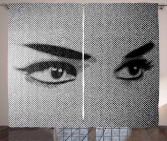 Dramatic Woman Look Curtain