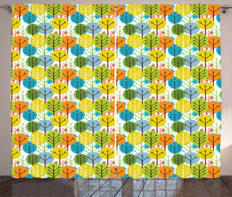 Sute Summer Trees Pattern Curtain