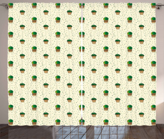 House Flowers Pattern Curtain