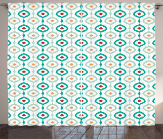 Pastel Chain Ogee Shapes Curtain