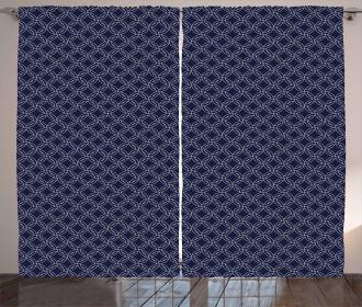 Marine Circles Motif Curtain