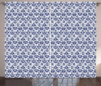 Vintage Asian Ikat Curtain
