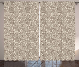 Circular Composition Lace Curtain