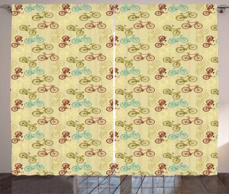 Contrast Vintage Colors Curtain