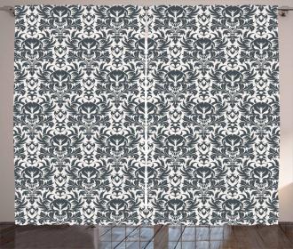 Damask Inspired Flourish Curtain
