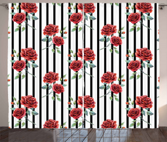 Valentines Day Rose Curtain