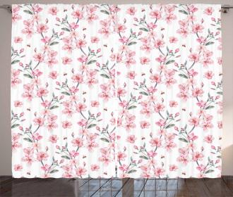 Sakura Cherry Garden Curtain