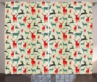 Wooden Winter Animals Curtain