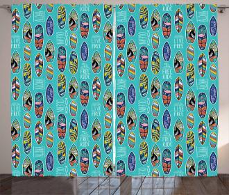Aloha Hawaii Ocean Curtain