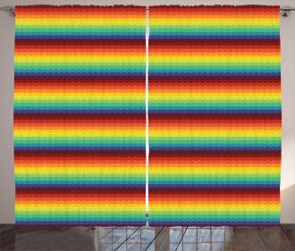 Tribal Culture Zigzags Curtain