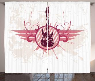 Grunge Circular Frame Curtain