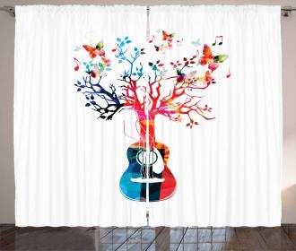 Tree Butterflies Artful Curtain