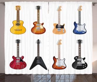 String Instruments Jazz Curtain