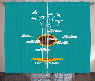 Musical Freedom Bird Curtain