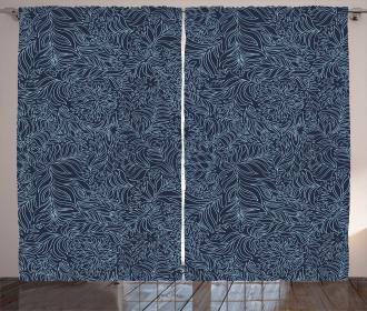 Abstract Flourish Curtain