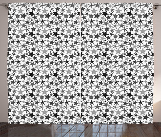 Monochrome Starfish Curtain