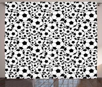 Monochrome Balls Boys Curtain