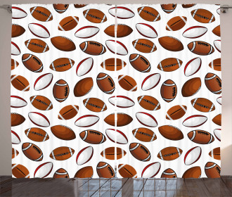 Rugby Balls Curtain
