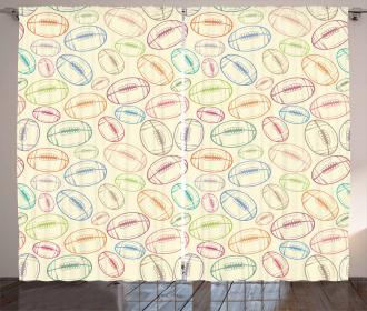 Retro Colored Curtain