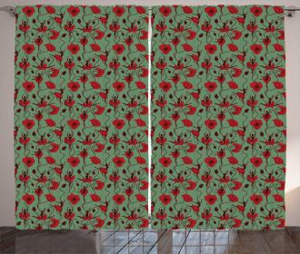 Floral Arrangement Dance Curtain