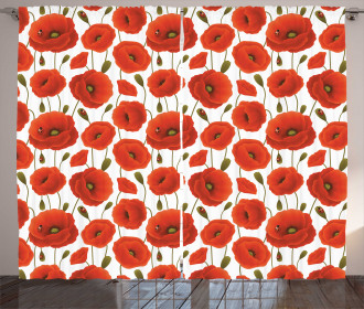 Floral Blossom Spring Curtain