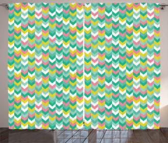 Vibrant Herringbone Arrows Curtain