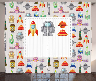 Space Craft Rocket Curtain