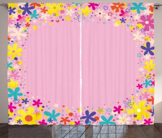 Girls Birthday Flora Curtain