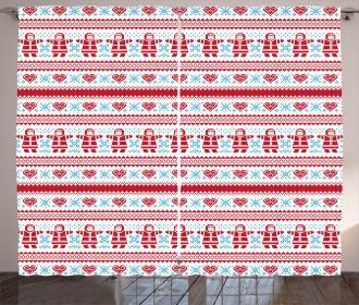 Xmas Inspired Ornament Curtain