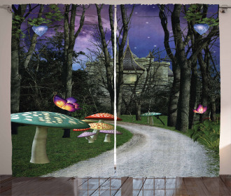 Enchanted Forest Castle Curtain