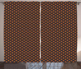 Orange Heraldic Curtain