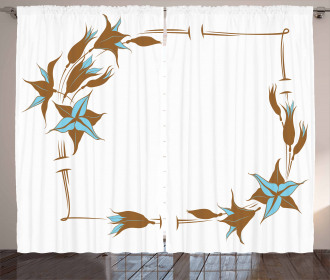 Floral Frame Curtain