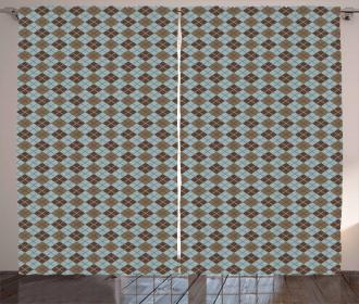 Argyle Pattern Curtain