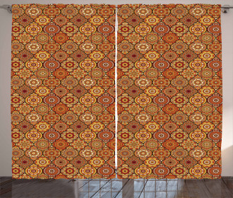 Floral Motifs Ottoman Curtain