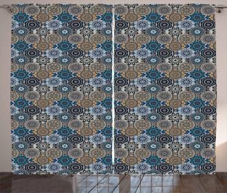 Ancient Flora Arabic Curtain