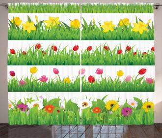 Nature Scenes Spring Curtain