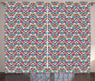 Ethnic Oriental Pattern Curtain