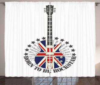 England Flag Guitar Curtain