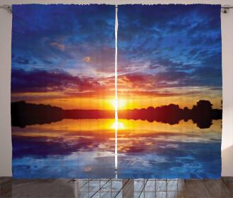 Dreamy Sunset Scenery Curtain