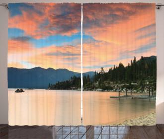 Sunset at Lake Tahoe USA Curtain