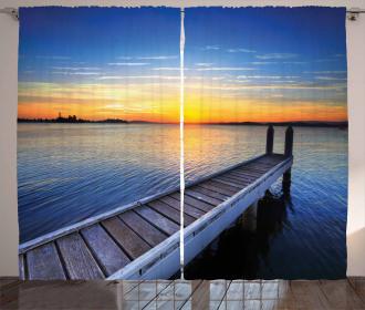 Tranquil Summer Sunset Curtain