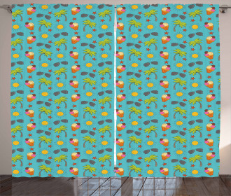 Vivid Cartoon Summer Curtain